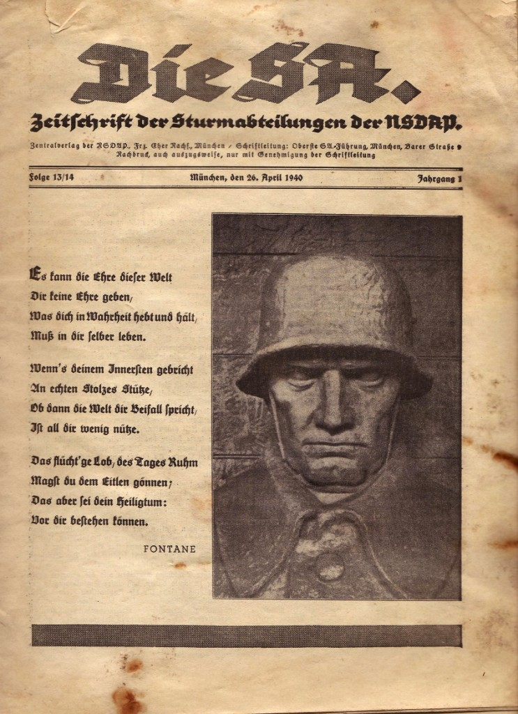 La Sturmabteilung,SA,la section d'assaut de la NSDAP, Die_sa10