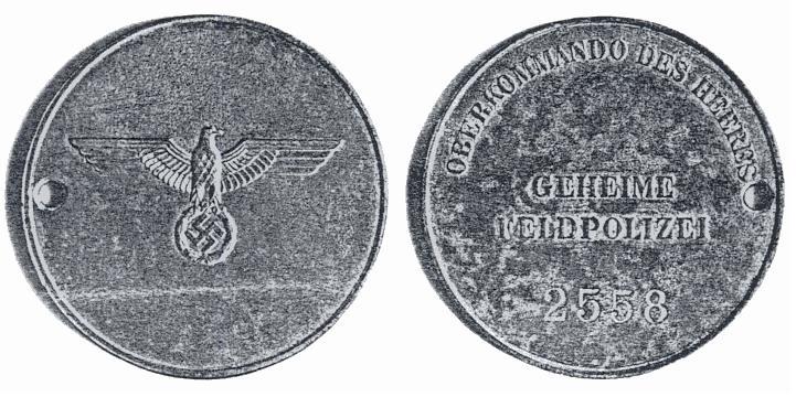 """Geheime Feldpolizei,la """"Gestapo"""" de la Wehrmacht Marke_10"""