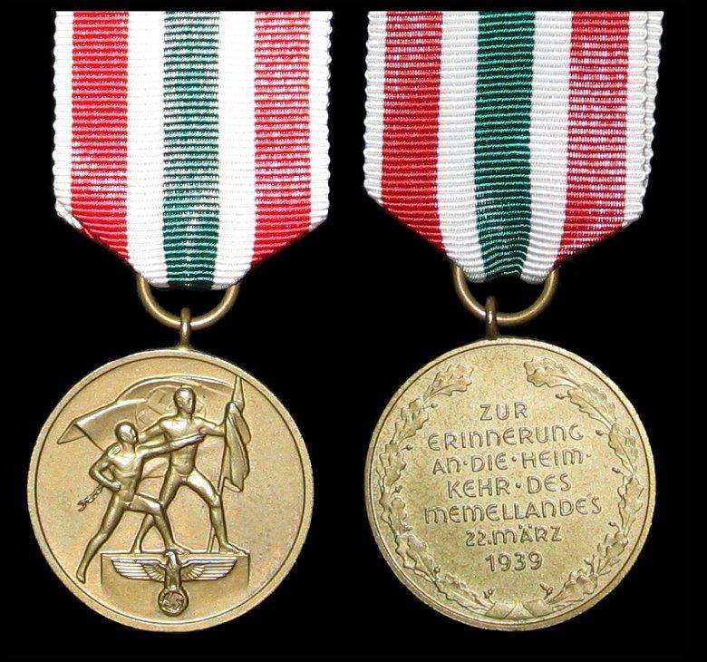 Les médailles de Hitler Memell10
