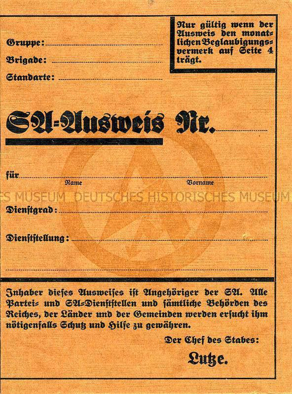 La Sturmabteilung,SA,la section d'assaut de la NSDAP, Sa_aus10