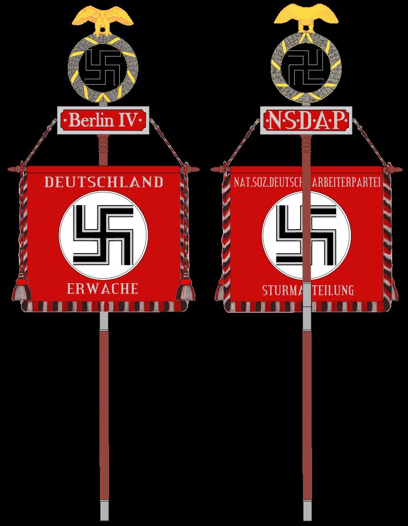 La Sturmabteilung,SA,la section d'assaut de la NSDAP, Standa10