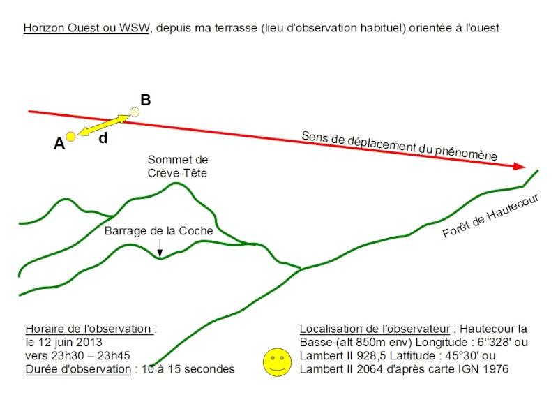 2013: le 12/06 à 23h30 - phénomène lumineuxUn phénomène surprenant - Hautecour - Savoie (dép.73) Dessin10