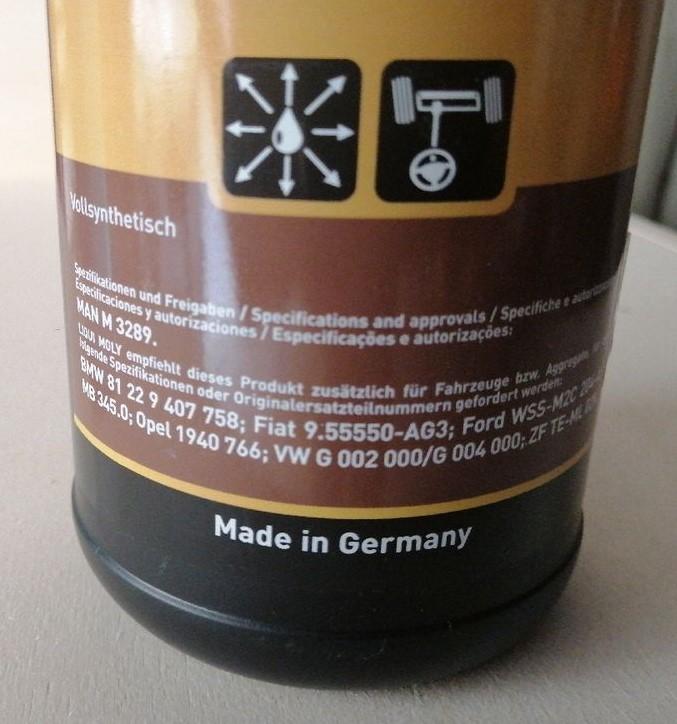 Liquide de direction LIQUI MOLLY VW G 002 000, VW G 004 000 D86bb210