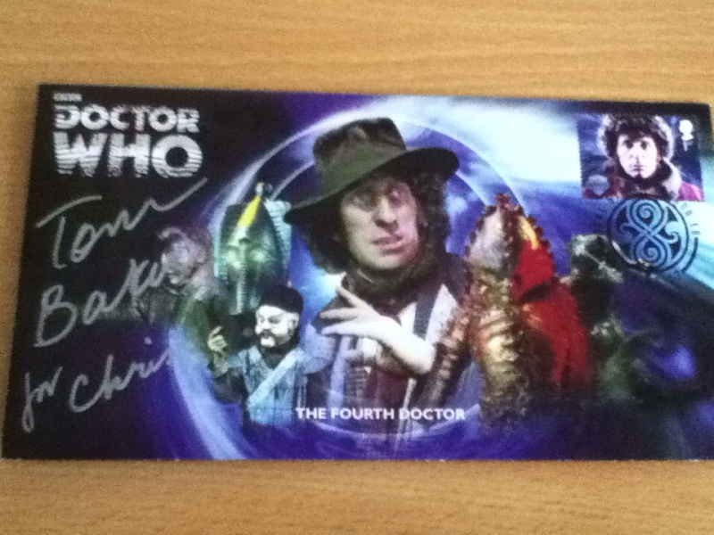 Tom Baker signed Stamp! Signed10