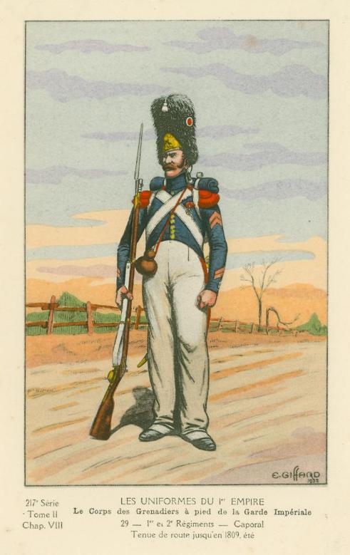 Chasseur à pied de la garde en tenue de route été 1808 MM54 transfo S217-210