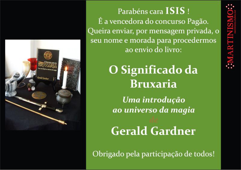 CONCURSO PAGÃO - CRIE O MAIOR NÚMERO DE TÓPICOS E MENSAGENS NA CATEGORIA PAGANISMO E GANHE UM LIVRO DE GERALD GARDNER Venced10