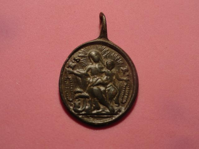 Médaille Ste-Anne & Vierge à l'Enfant/ND-du-Rosaire - XVII/XVIIIème Dsc04811