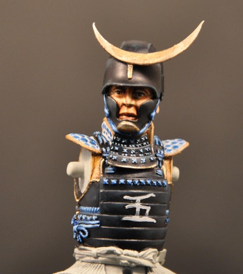 Samourai à cheval période Momoyama. 90 mm Bonapartes/Poste militaire Terminé Dsc_0024