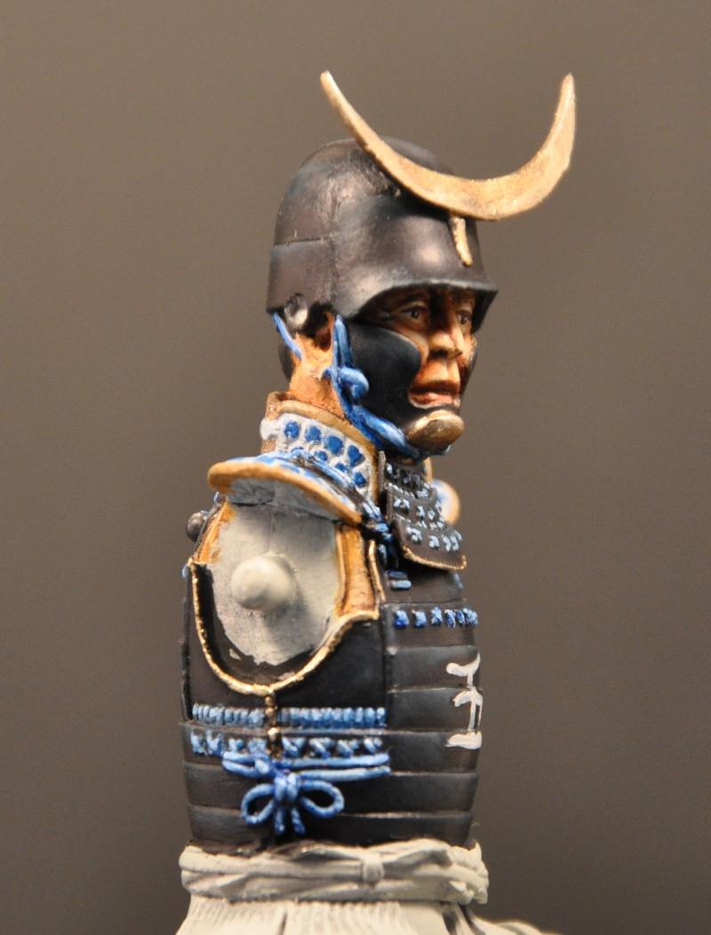 Samourai à cheval période Momoyama. 90 mm Bonapartes/Poste militaire Terminé Dsc_0025