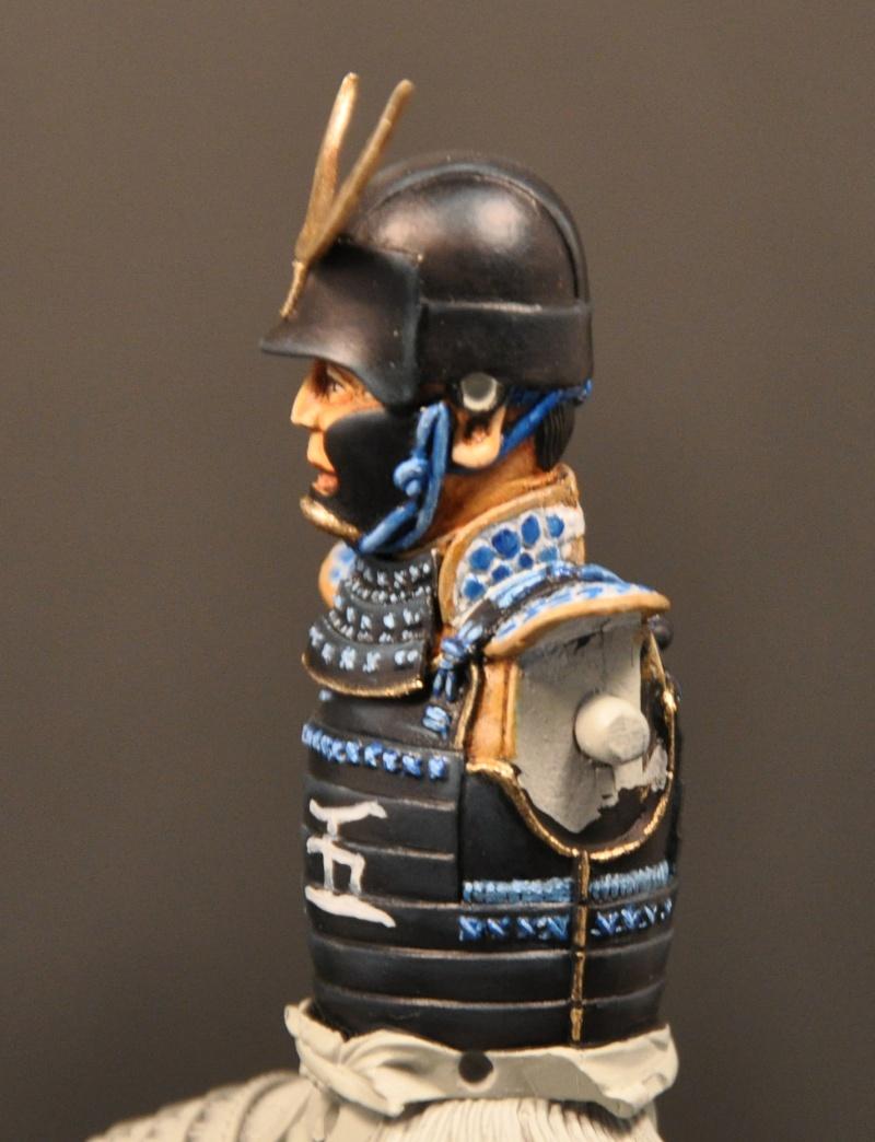 Samourai à cheval période Momoyama. 90 mm Bonapartes/Poste militaire Terminé Dsc_0027