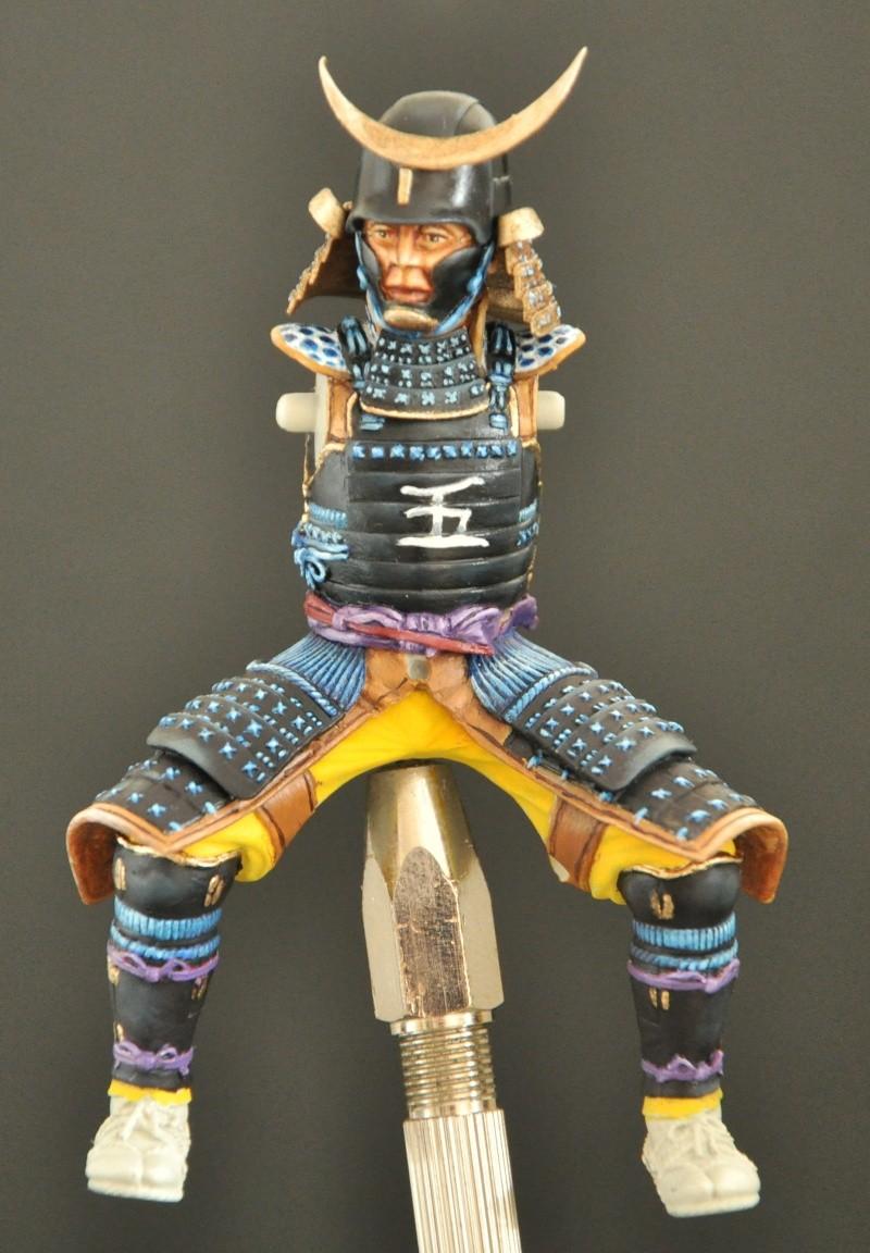 Samourai à cheval période Momoyama. 90 mm Bonapartes/Poste militaire Terminé Dsc_0028