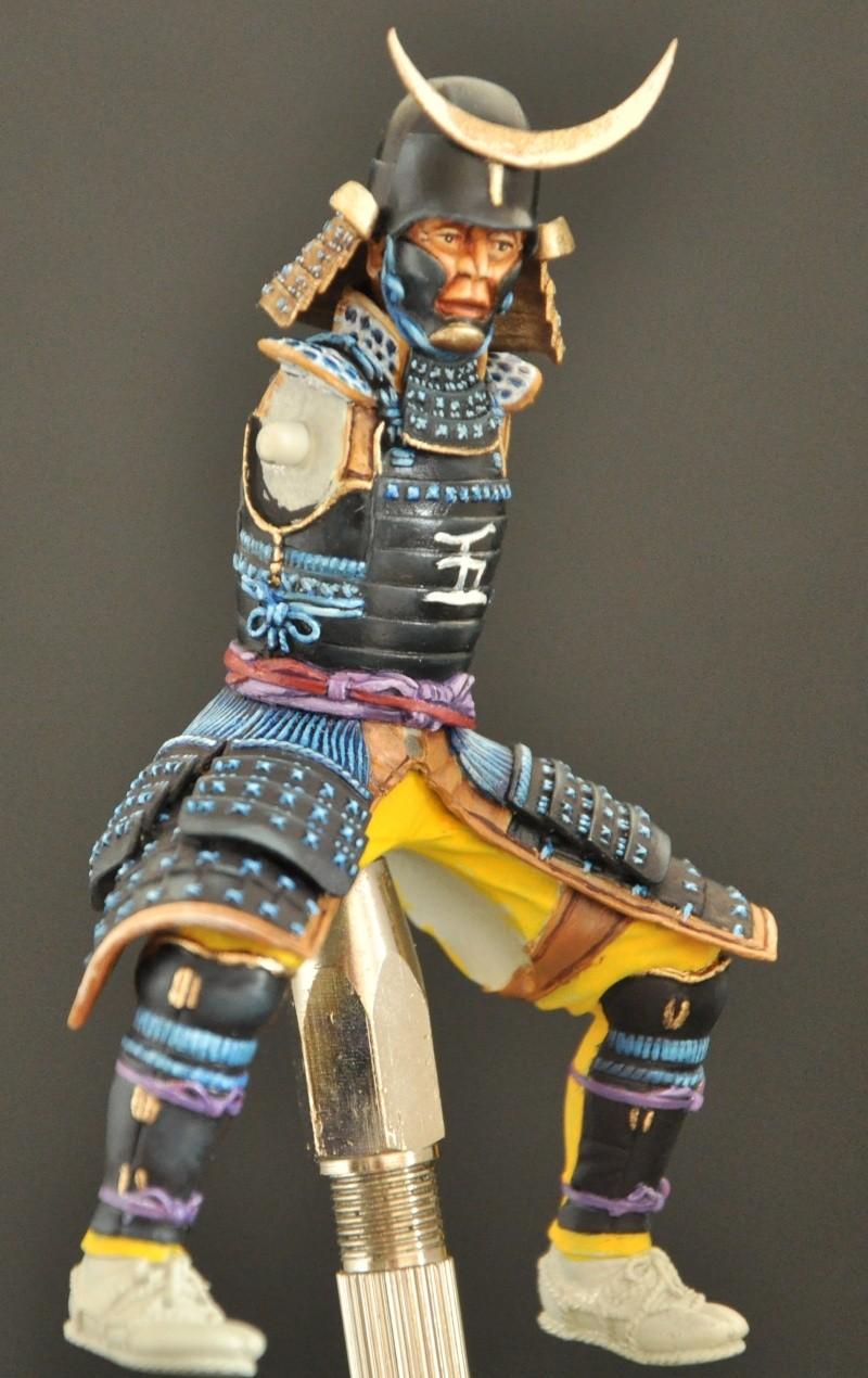 Samourai à cheval période Momoyama. 90 mm Bonapartes/Poste militaire Terminé Dsc_0029