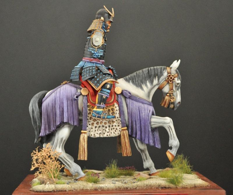Samourai à cheval période Momoyama. 90 mm Bonapartes/Poste militaire Terminé Dsc_0033