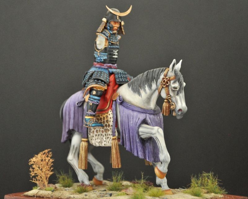 Samourai à cheval période Momoyama. 90 mm Bonapartes/Poste militaire Terminé Dsc_0036