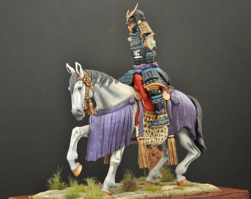 Samourai à cheval période Momoyama. 90 mm Bonapartes/Poste militaire Terminé Dsc_0037