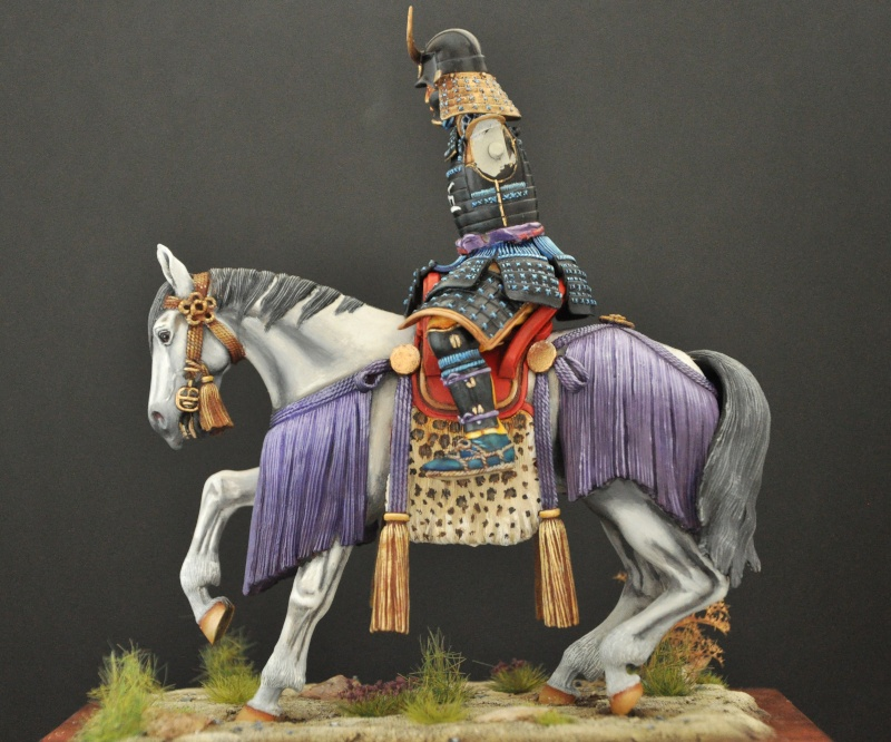 Samourai à cheval période Momoyama. 90 mm Bonapartes/Poste militaire Terminé Dsc_0038