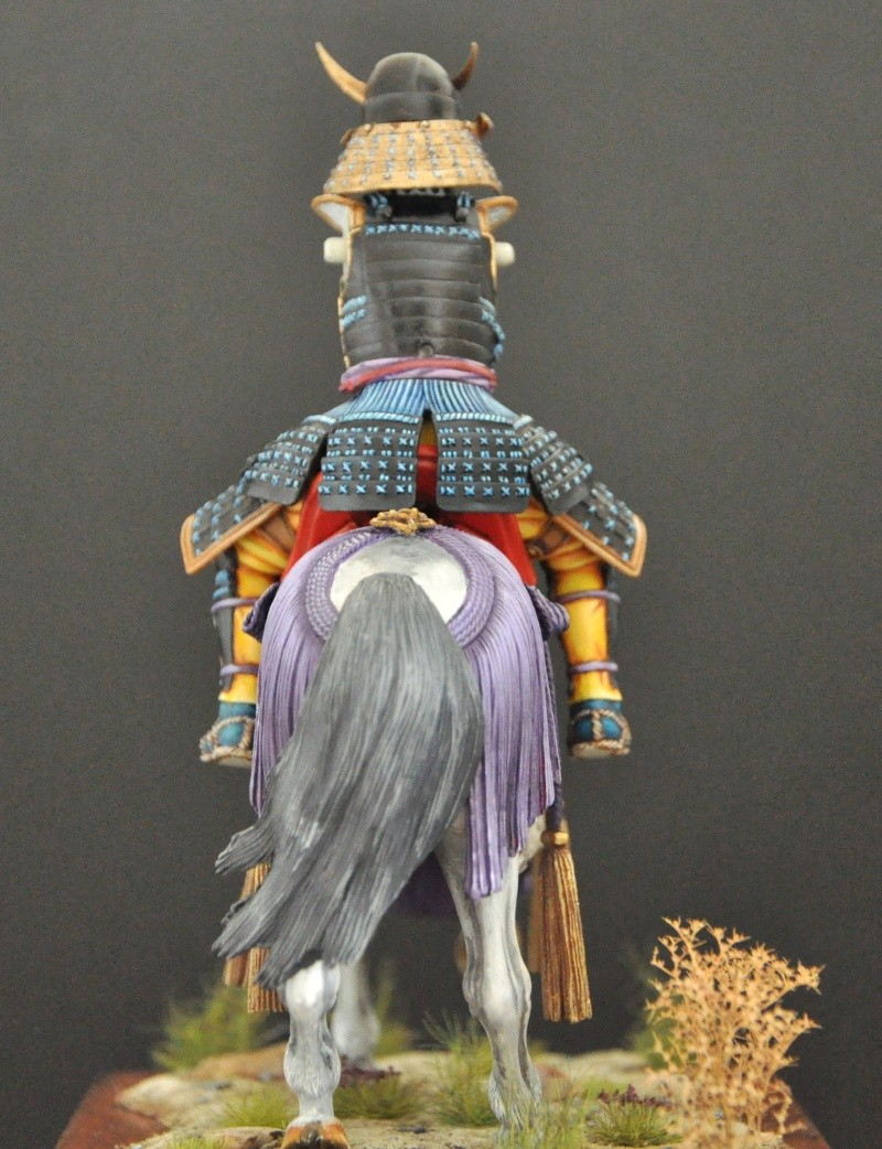 Samourai à cheval période Momoyama. 90 mm Bonapartes/Poste militaire Terminé Dsc_0039