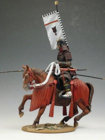 Samourai à cheval période Momoyama. 90 mm Bonapartes/Poste militaire Terminé Large_10