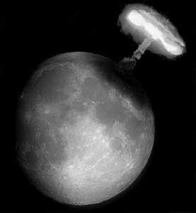Une météorite frappe la lune et crée une explosion visible à partir de la Terre Explos10