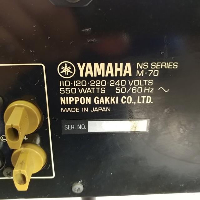 Yamaha M-70 Stereo 200 Watts Per Channel Power Amplifier 20190127