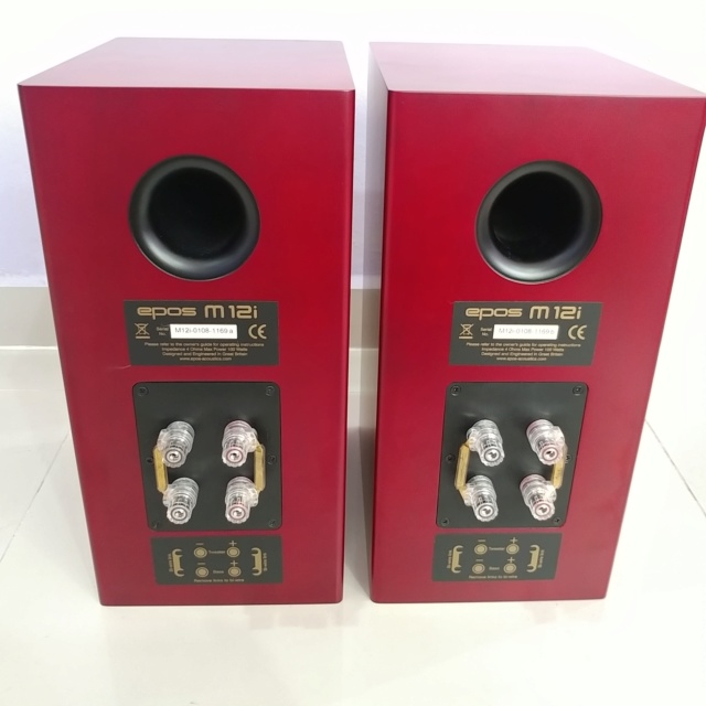 Epos M12i England Stereo Bookshelf Speaker with Box 20190513