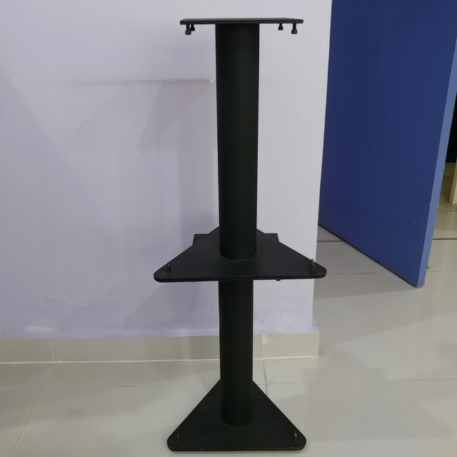 Single Pillar Solid steel 18.5 inch speaker stand with spike 20190612