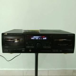 JVC TD-W254 full-logic Double Cassette Tape Player 20190825