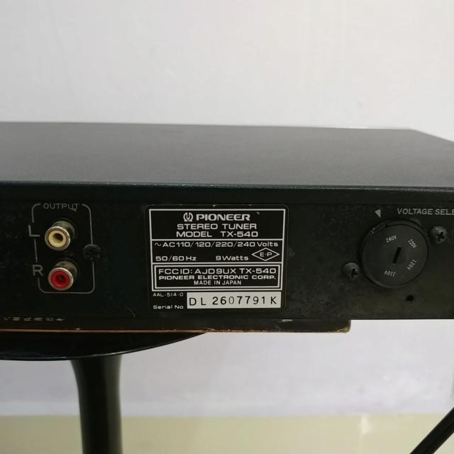 Pioneer vintage Analog FM Tuner TX-540 20190919