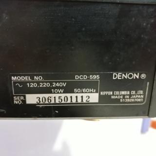 Denon DCD-595 Stereo Japan Made CD Player 20190946