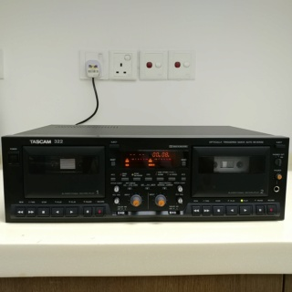 Tascam 322 Professional DUAL Cassette Tape player HX-Pro Dolby B C 20191030