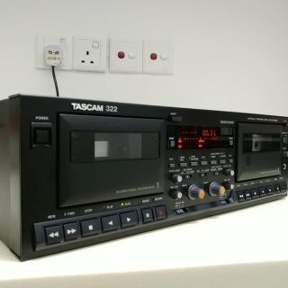 Tascam 322 Professional DUAL Cassette Tape player HX-Pro Dolby B C 20191031