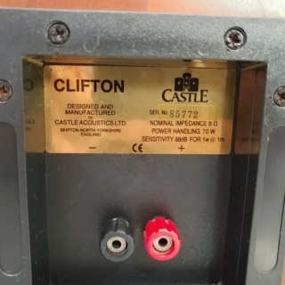 Castle CLIFTON England Made Stereo Bookshelf Speaker  20191220