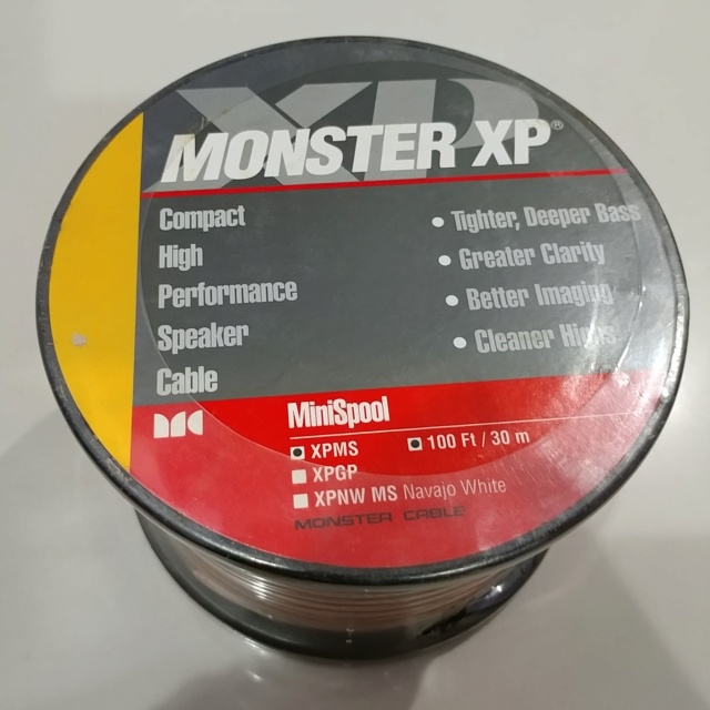 Monster XP 100Ft XPMS Speaker Cable  (NOS) 20191241