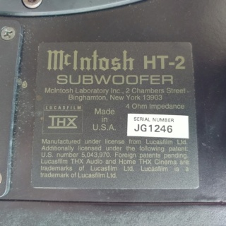 McIntosh USA Made HT-2 Dual 12 inch Passive Subwoofer 20200125