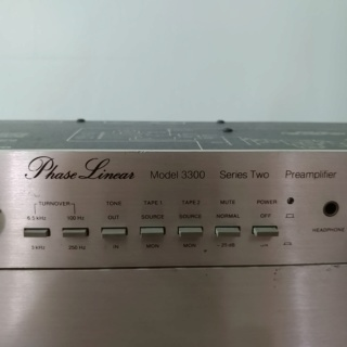 Phase Linear USA Made Pre-Amplifier Model 3300 Series II and Stereo Power Amplifier Model 300 Series II 20200159