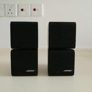 Bose Pair 2 Double Cube Redline Satellite Speakers Acoustimass Lifestyle Black 20200315