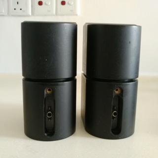 Bose Pair 2 Double Cube Redline Satellite Speakers Acoustimass Lifestyle Black 20200317