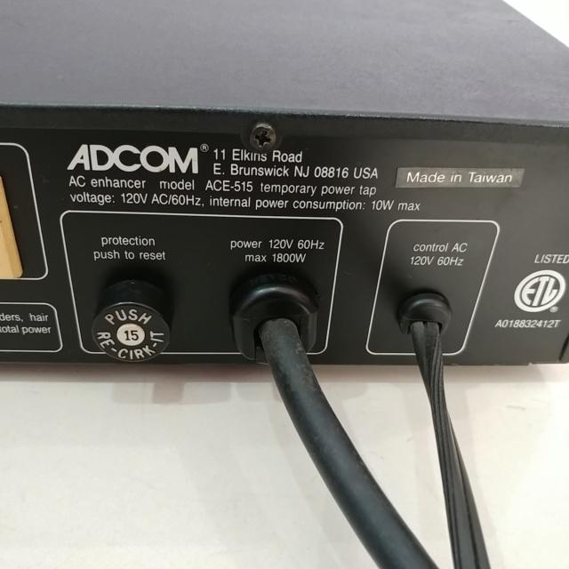 ADCOM ACE-515 AC Power Enhancer Surge Protector ( 120V)  20200524