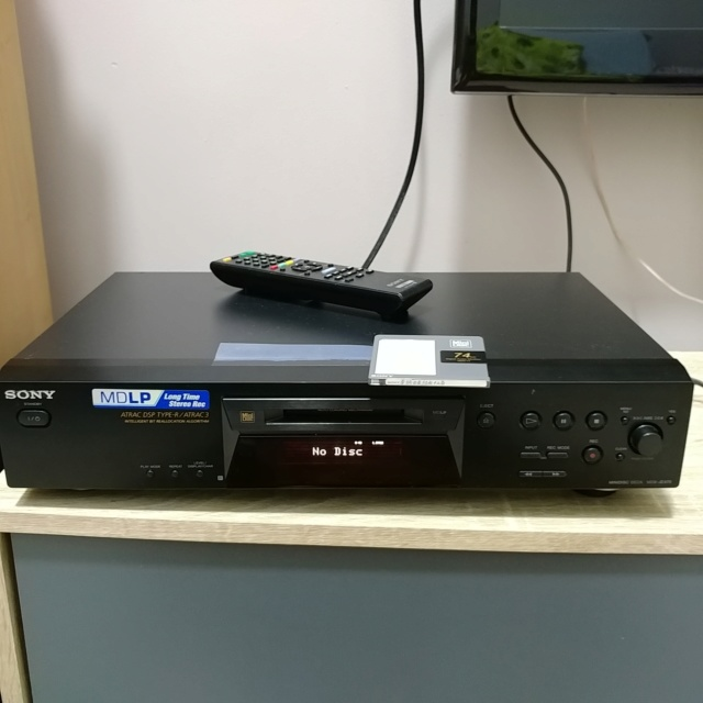 Sony Mini Disc Deck MDS-JE470 player DAC digital to analog Converter 20200634