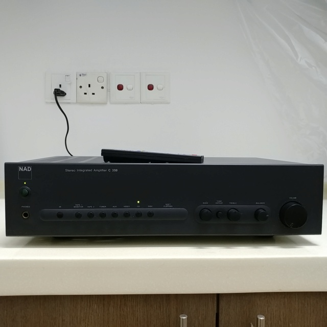 NAD C-350 Stereo Integrated Amplifier with Remote 20200731