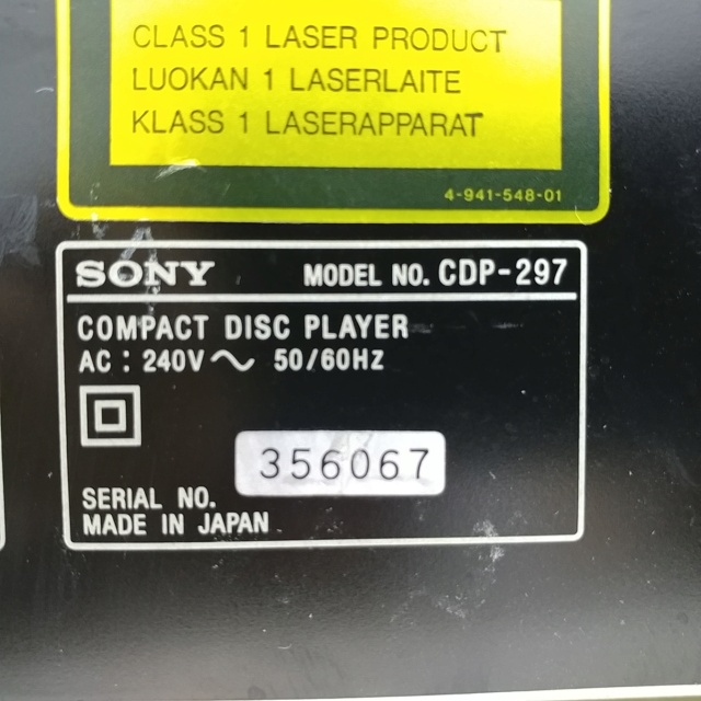 Sony CDP-297 CD player with remote 20200846