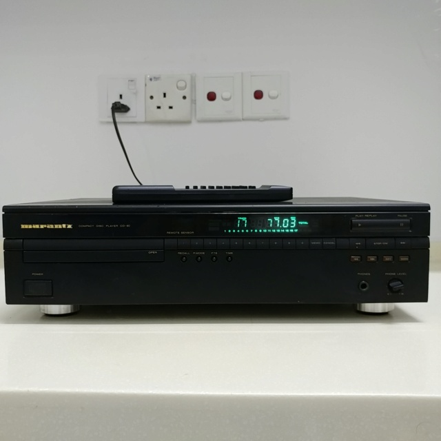 Marantz CD60 Belgium Made Stereo CD player TDA -1541A DAC with remote 20201111
