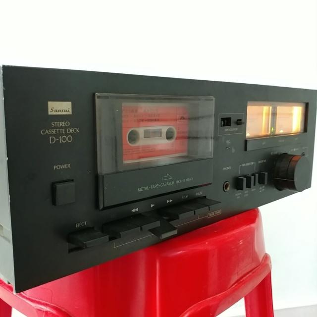 Sansui D-100 Stereo Cassette Tape Deck Player 20210425