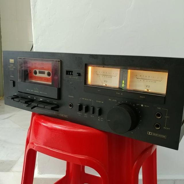 Sansui D-100 Stereo Cassette Tape Deck Player 20210426