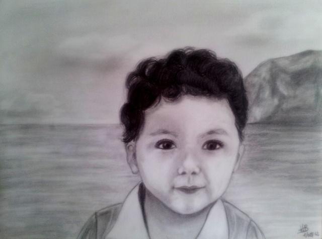 Portrait aux crayons gris 20120810