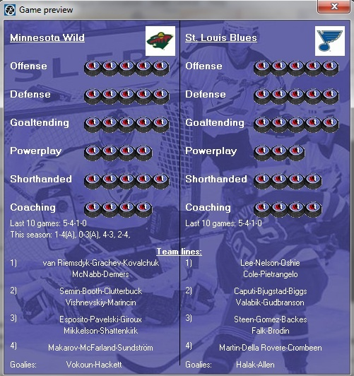 Playoff Preview - Western Conference Semifinal: Minnesota Wild vs. St.Louis Blues Wild-b10