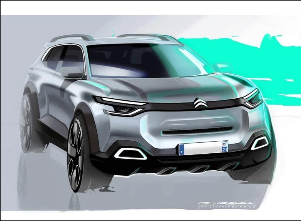 2018 - [FUTUR MODÈLE] [EUROPE] Citroën C5 Aircross [C84] - Page 24 Sketsc10