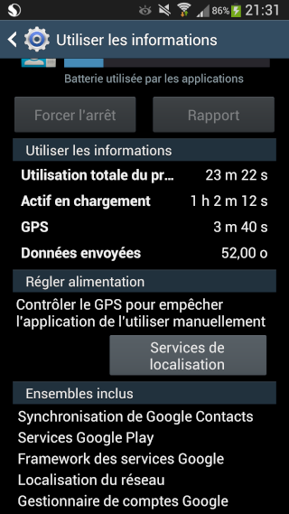 """[AIDE] Utilisation de la batterie des """"services google"""" 2013-012"""