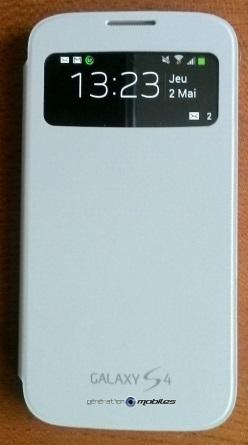 [ACCESSOIRE] S-View Cover Officielle pour le Samsung Galaxy S4 Image024