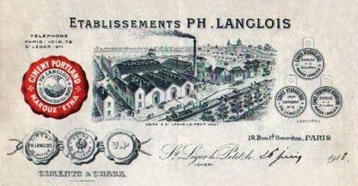 Dept:18 Cher Ciment Beffes Société Langlois St Léger le petit, début XXème siècle Ciment10